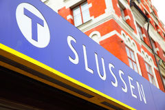 Slussen metro station signboard Royalty Free Stock Photography