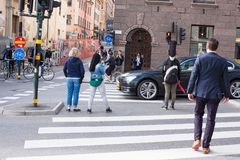 Urban life. People Walking In A Big City Royalty Free Stock Photography