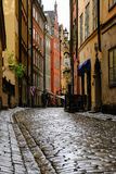 Stockholm, Sweden, A lonely tourist on the street Stock Photography