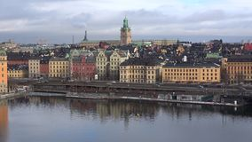 Gloomy March day in the center of Stockholm. Sweden stock footage