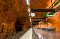 STOCKHOLM, SWEDEN - MAY 30: Interior of Rinkeby station on May 3 Royalty Free Stock Photo