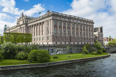 STOCKHOLM, SWEDEN - MAY 21, 2016:Riksdag Parliament Building and Stock Photos