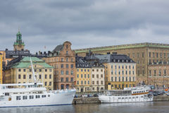 STOCKHOLM - SWEDEN - 21 MAY, 2016.Scenic panorama of the Old Tow Stock Photo