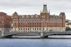 STOCKHOLM - SWEDEN - 21 MAY, 2016.Scenic panorama of the Old Tow Royalty Free Stock Photos