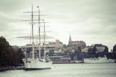STOCKHOLM SWEDEN 21 May 2016: The ship af Chapman in Stockholm S Royalty Free Stock Photo