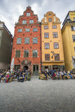 STOCKHOLM, SWEDEN - MAY 21, 2016: Stortorget place in Gamla stan Stock Photo