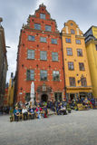 STOCKHOLM, SWEDEN - MAY 21, 2016: Stortorget place in Gamla stan Stock Photography