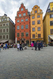 STOCKHOLM, SWEDEN - MAY 21, 2016: Stortorget place in Gamla stan Stock Image