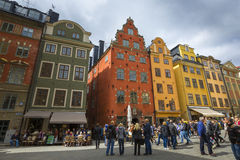 STOCKHOLM, SWEDEN - MAY 21, 2016: Stortorget place in Gamla stan Royalty Free Stock Photography