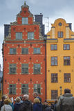 STOCKHOLM, SWEDEN - MAY 21, 2016: Stortorget place in Gamla stan Royalty Free Stock Photo