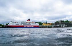 Stockholm / Sweden - May 15 2011: Viking Line ship Gabriella in Stockholm stock photography