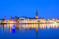 Stockholm, Sweden At Night Royalty Free Stock Images