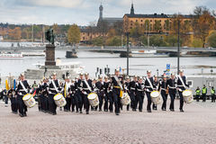STOCKHOLM,SWEDEN - OCTOBER 26: Changing of the guard ceremony with the participation of the Royal Guard cavalry. October 26, 2016 Stock Photography