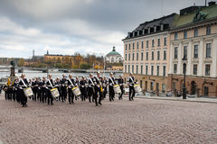 STOCKHOLM,SWEDEN - OCTOBER 26: Changing of the guard ceremony with the participation of the Royal Guard cavalry. October 26, 2016 Stock Photo