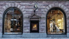 Ralph Lauren store front. American corporation producing luxury fashion products. royalty free stock photo