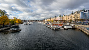 Stockholm, Sweden - October 28, 2016: View of Stockholm cityscape, Sweden Royalty Free Stock Photo