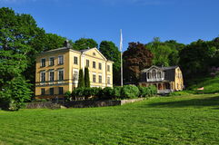 Stockholm, Sweden. Old buildings in a city park. Stock Photos