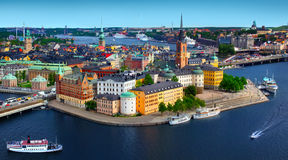 Stockholm, Sweden. Panorama Photo of Stockholm, Sweden royalty free stock images