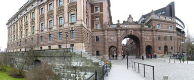 Stockholm, Sweden. The Parliament Building of Sweden, located in Stockholm royalty free stock photos