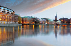 Stockholm, Sweden. Riksdag (parliament) building Royalty Free Stock Image