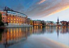 Stockholm, Sweden. Riksdag (parliament) building Stock Image
