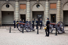 Stockholm, Sweden. A daily royal guard change. Stock Images