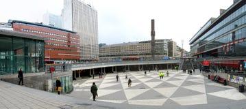 Stockholm, Sweden. Sergels Torg is the central square of Stockholm, Sweden stock photo