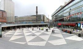 Stockholm, Sweden. Sergels Torg is the central square of Stockholm, Sweden stock photography