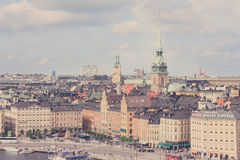 Stockholm, Sweden skyline Royalty Free Stock Photography