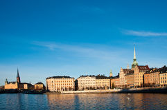Stockholm, Sweden skyline. Skyline and cityscape of Stockholm, capital of Sweden Royalty Free Stock Photos