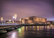 stockholm sweden slottkunglig person Arkivbild