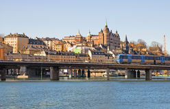 Stockholm. Sweden. Subway train Royalty Free Stock Photo