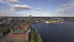 Stockholm Sweden in summer. View of Stockholm Sweden in summer stock video
