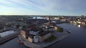 Stockholm Sweden in summer. View of Stockholm Sweden in summer stock footage