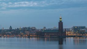 Stockholm Sweden Time Lapse stock video footage