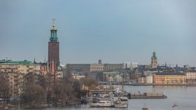 Stockholm Sweden time lapse stock footage