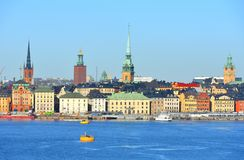 Stockholm. View of Old town Gamla stan from sea Stock Image
