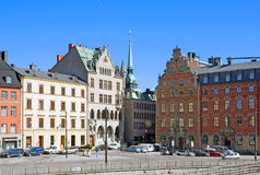 Stockholm sweden Vue de Gamla Stan Photographie stock libre de droits