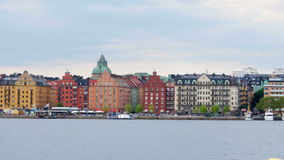stockholm sweeden den gamla stadssikten, stock video