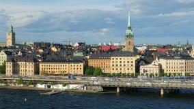 stockholm sweeden den gamla stadssikten, lager videofilmer