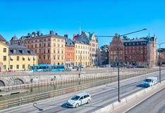 stockholm Szwecja Transport w Gamla Stan Obraz Stock