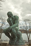 Stockholm, the thinker by Rodin at Waldemarsudde Stock Photography