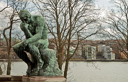 Stockholm, the thinker by Rodin at Waldemarsudde Stock Images