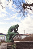 Stockholm, the thinker by Rodin at Waldemarsudde Stock Photo