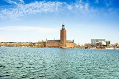 Stockholm. Town hall on the lake of Malaren Royalty Free Stock Photography