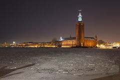 Stockholm Town Hall Royalty Free Stock Photos