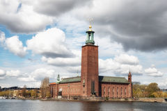 Stockholm Town Hall, Stockholm, Sweden. The Town Hall in Stockholm Sweden was drawn by architect Ragnar Östberg and houses the Nobel Prize banquet each december Stock Image