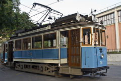 Stockholm tram. An old tram in Stockholm (Sweden Royalty Free Stock Photos