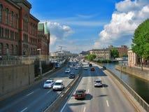 stockholm trans. Arkivbild