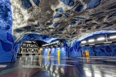 Stockholm tunnelbana Arkivfoto